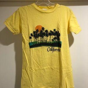Vintage 70s california shirt medium palm tree